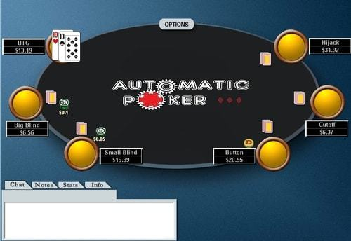 A screenshot of a 6-max table before the flop