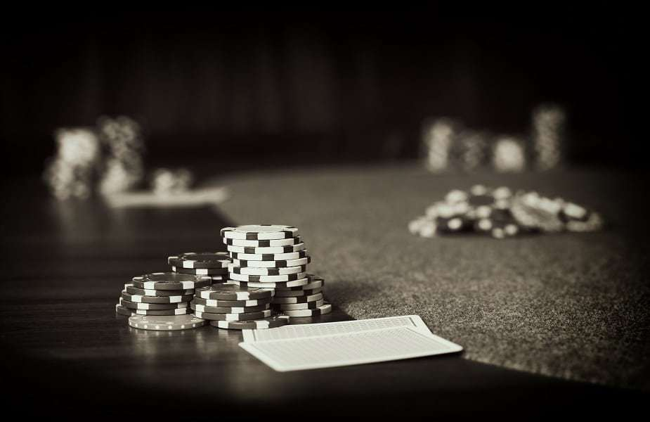 Poker Table Chips Black and White Large