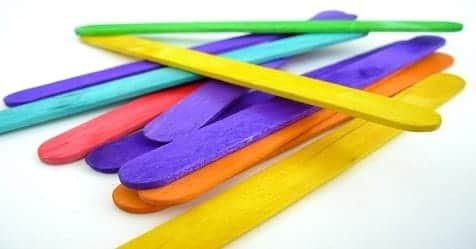 Color Popsicle Sticks