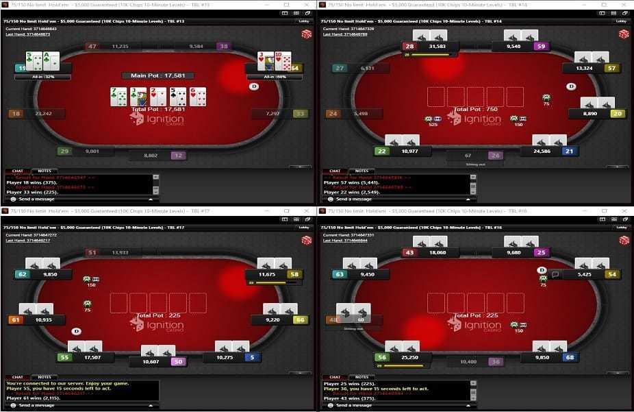 Online Poker 4 Tables