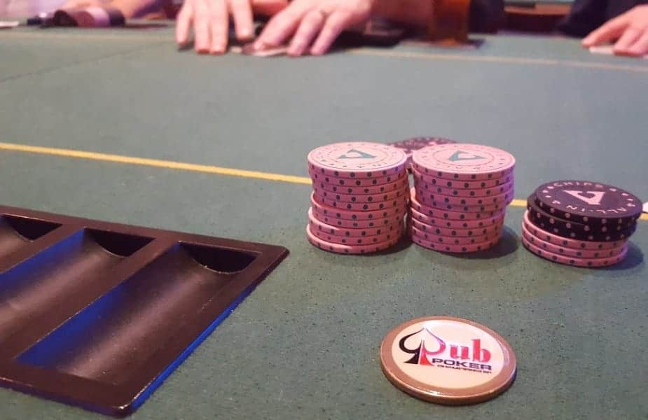 Pub Poker Chip Stack Table