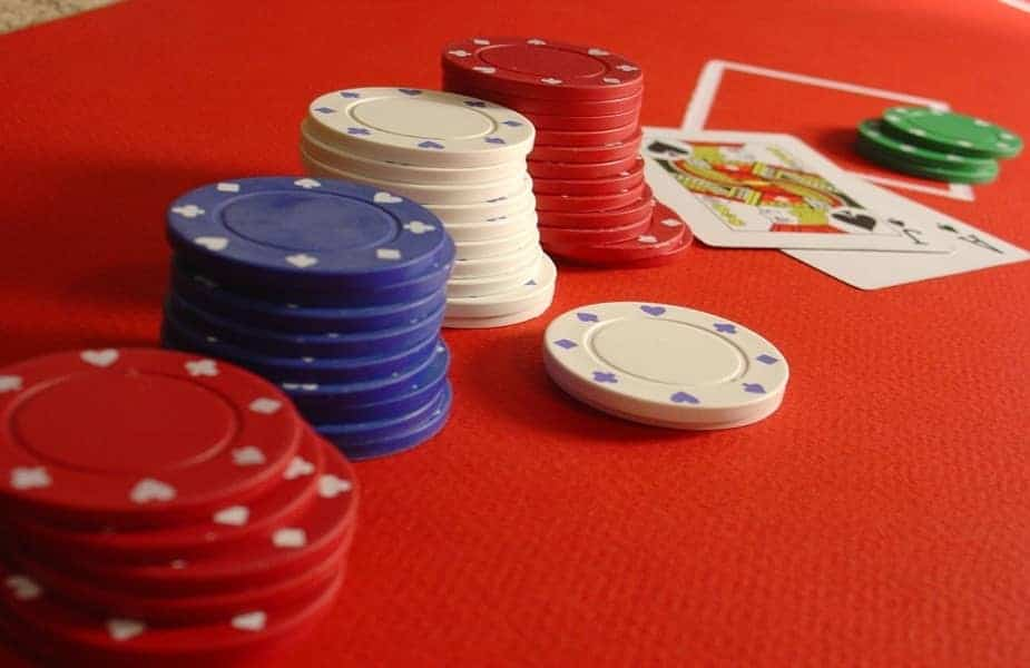 Poker Chips Red Table