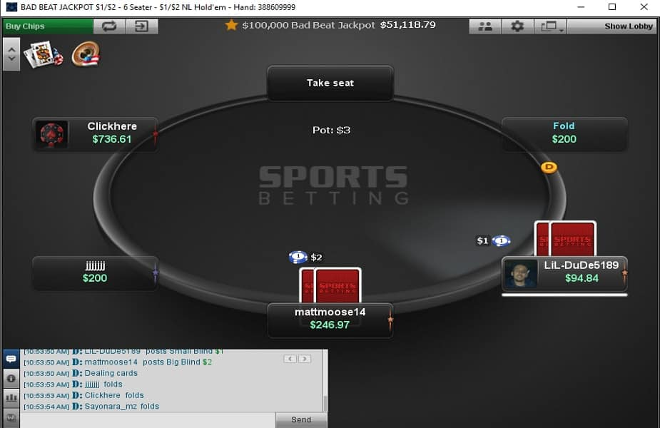 Poker sports betting nfl online betting sportsbook