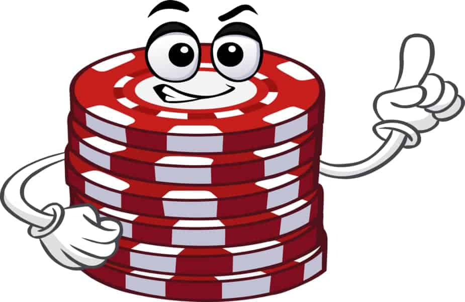 Short Stack Poker Character Pointing Up